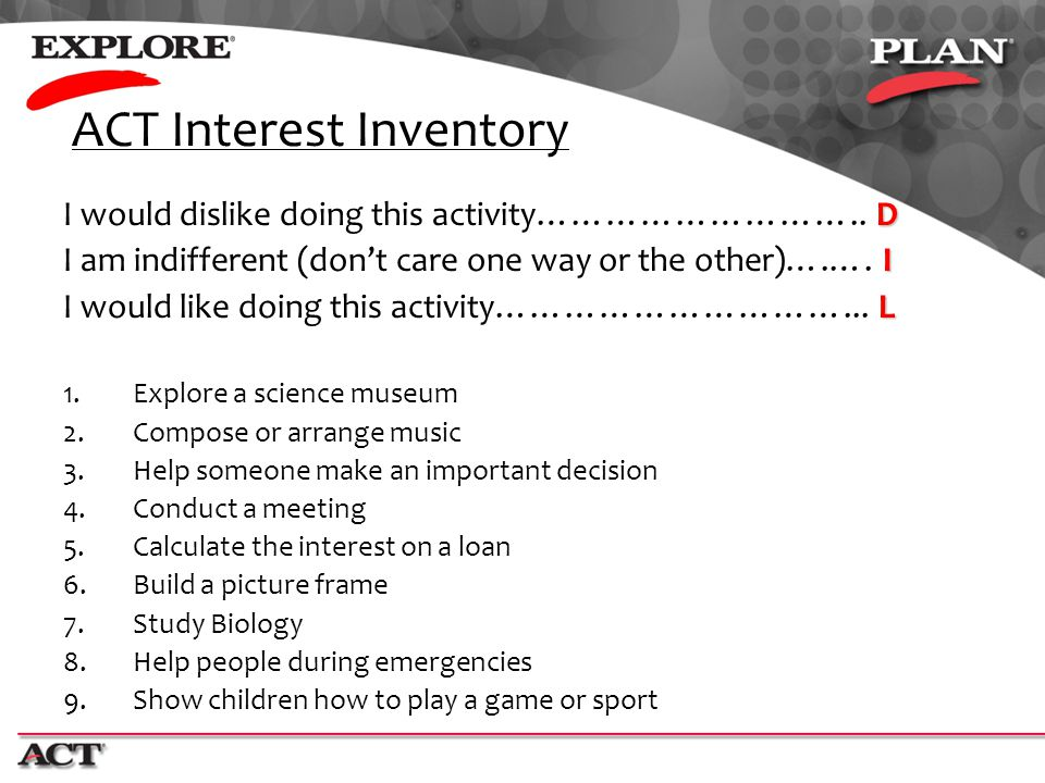 ACT Interest Inventory