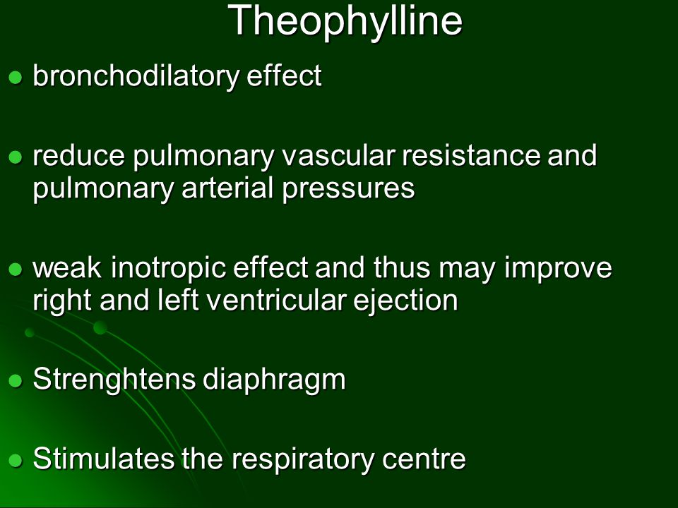 Theophylline bronchodilatory effect