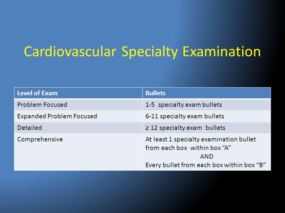 Cardiovascular Specialty Examination