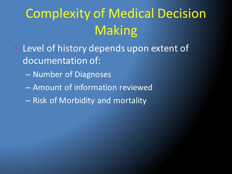 Complexity of Medical Decision Making