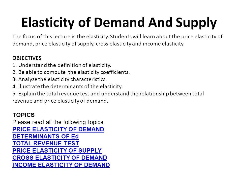 khan academy elasticity