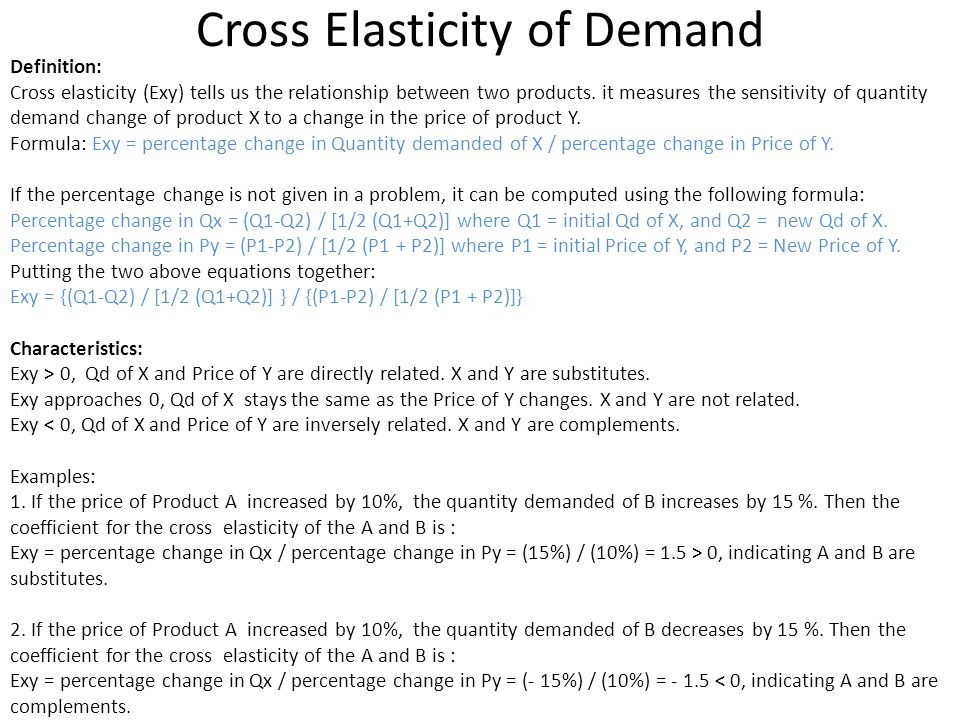 Elasticity of Demand And Supply - ppt video online download