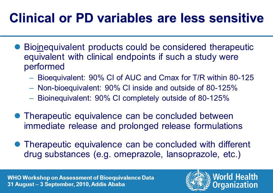 Clinical or PD variables are less sensitive