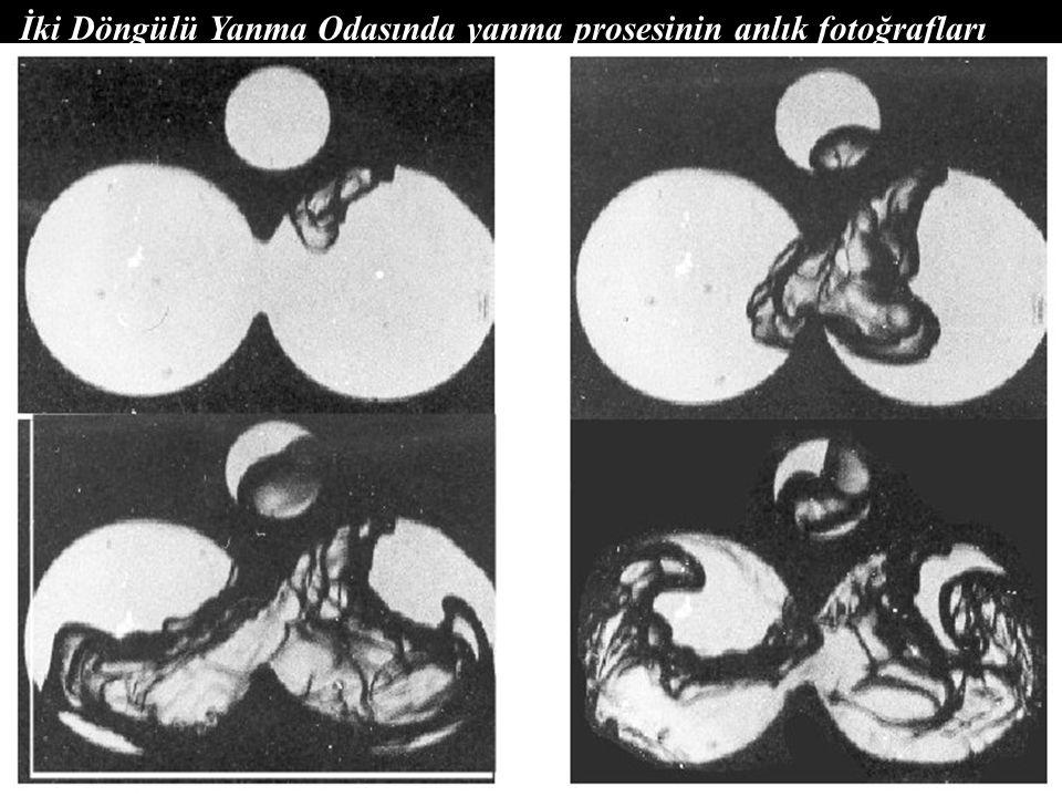 İki Döngülü Yanma Odasında yanma prosesinin anlık fotoğrafları