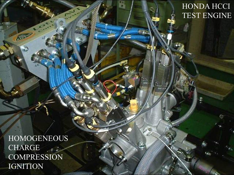 HONDA HCCI TEST ENGINE HOMOGENEOUS CHARGE COMPRESSION IGNITION