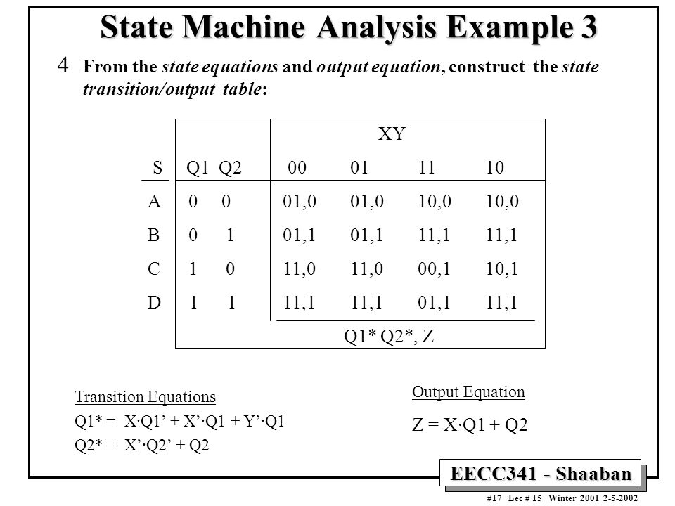 State Machine Analysis Example 3