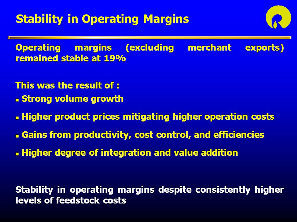 Stability in Operating Margins