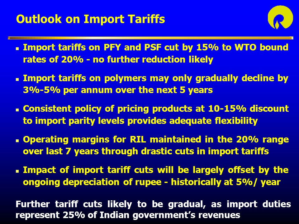 Outlook on Import Tariffs