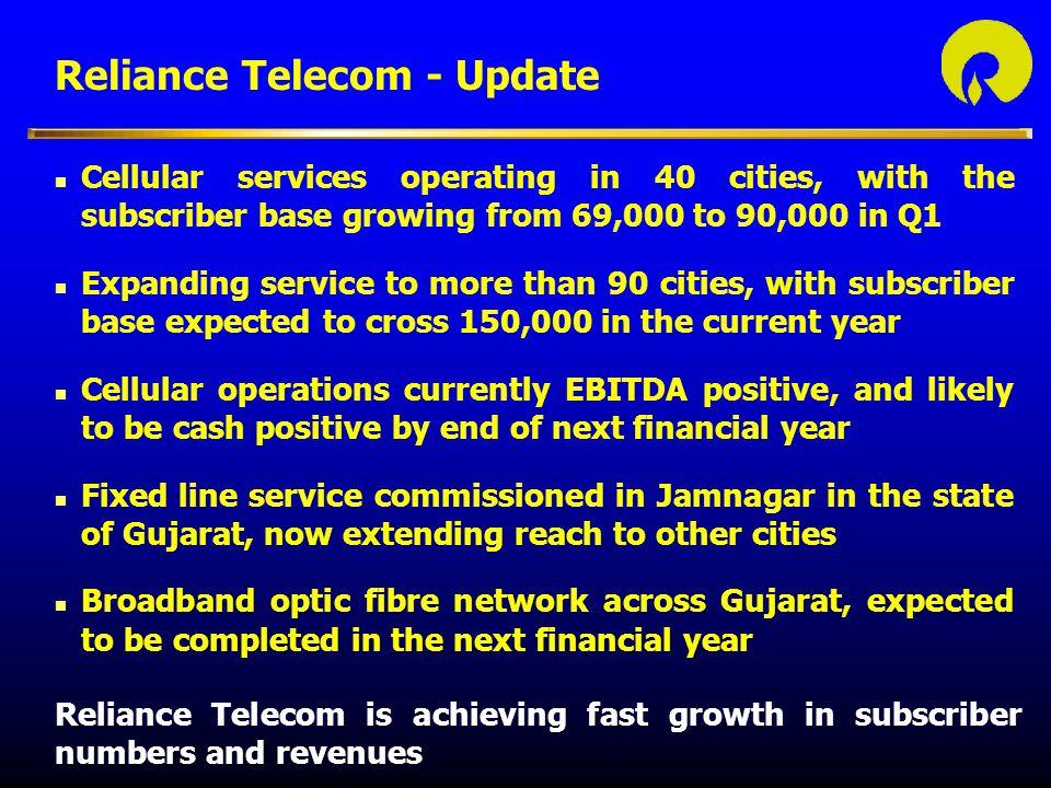 Reliance Telecom - Update