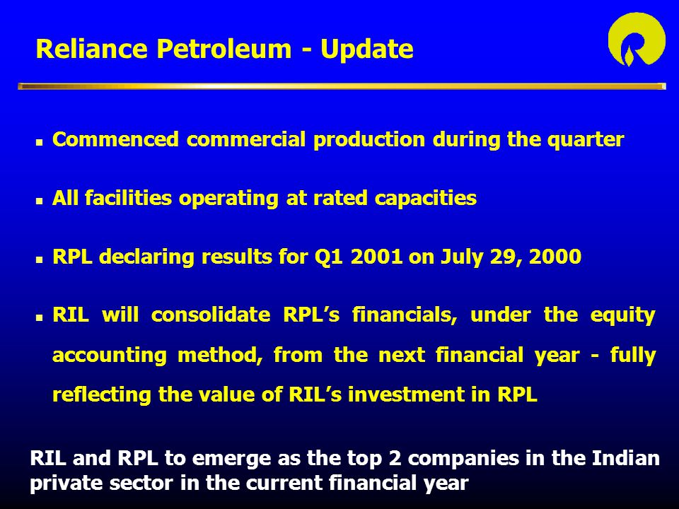 Reliance Petroleum - Update