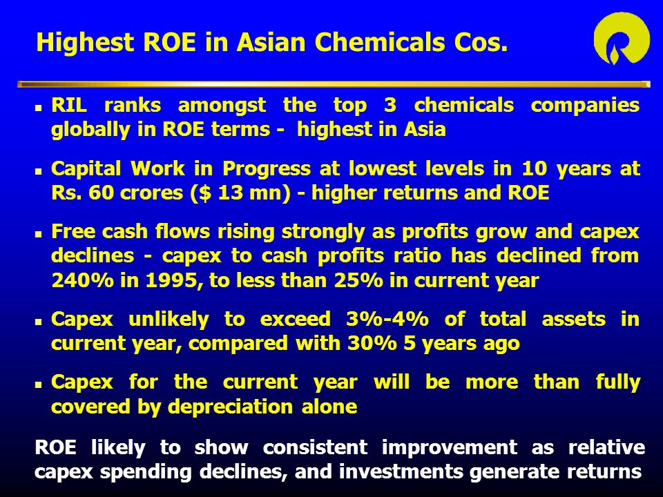 Highest ROE in Asian Chemicals Cos.