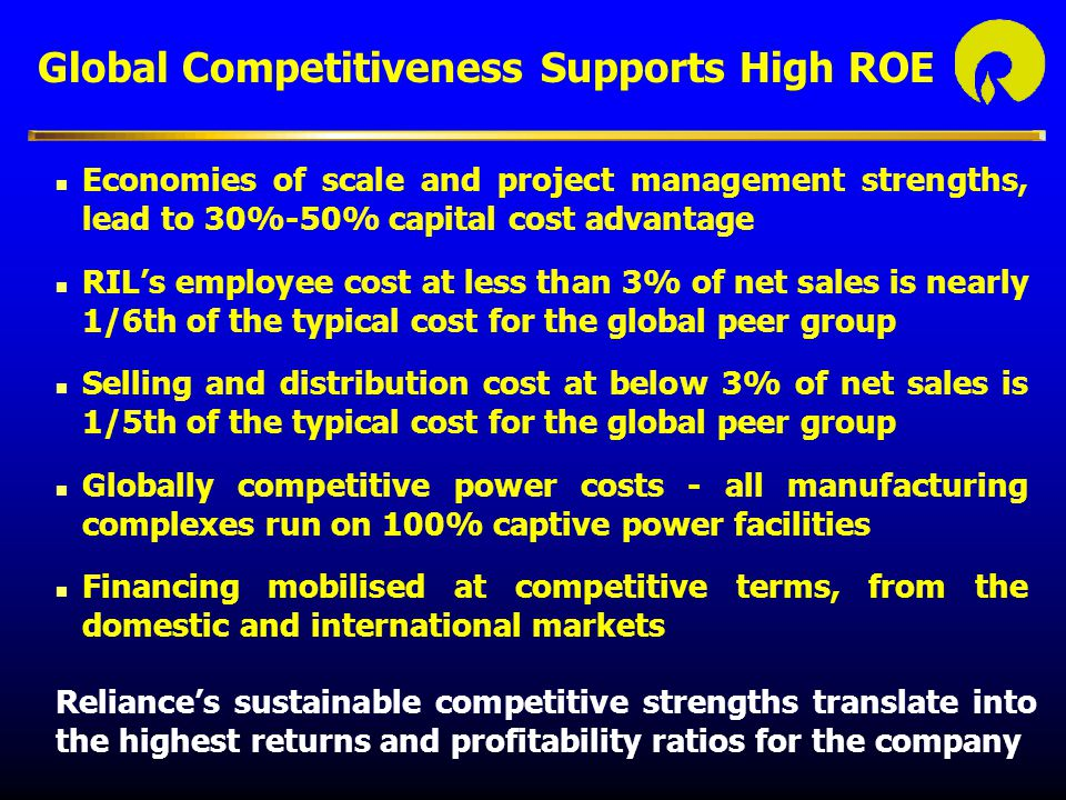 Global Competitiveness Supports High ROE