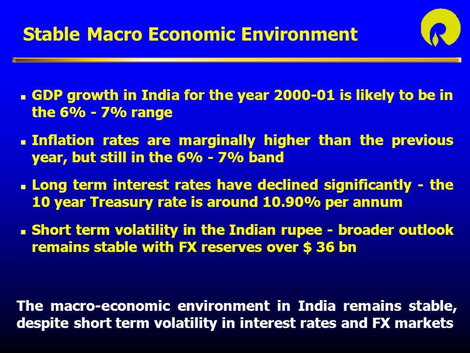 Stable Macro Economic Environment