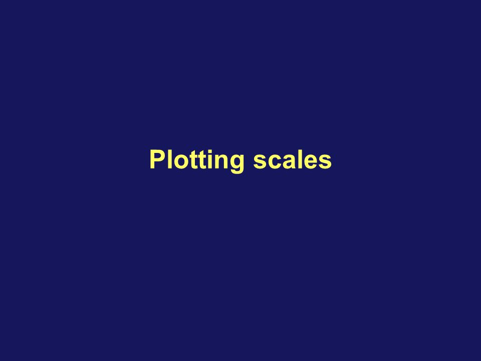 Plotting scales This concludes the discussion of this agenda topic.