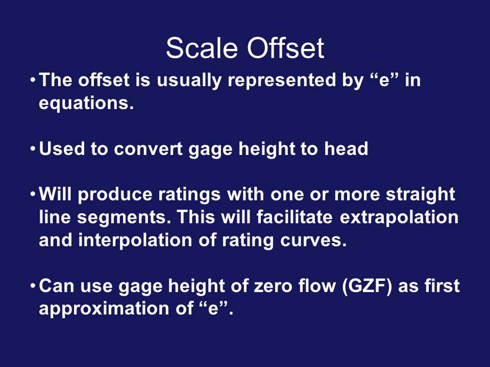 Scale Offset The offset is usually represented by e in equations.