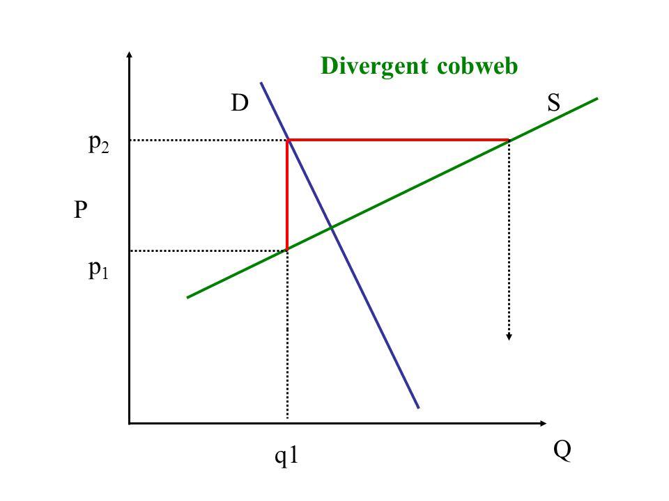 Divergent cobweb D S p2 P p1 Q q1