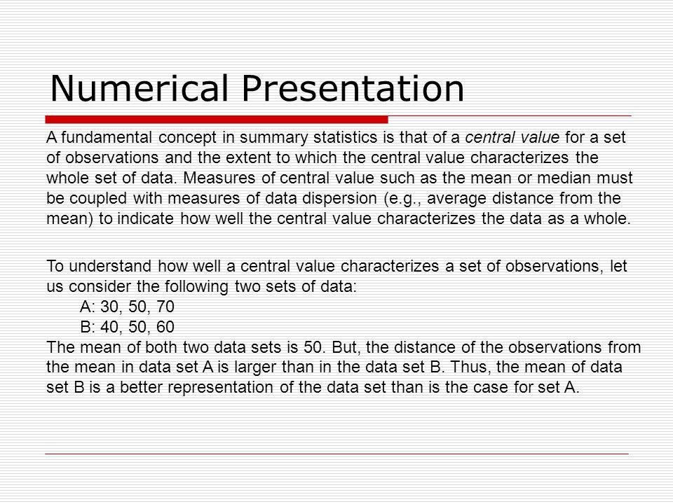 Numerical Presentation