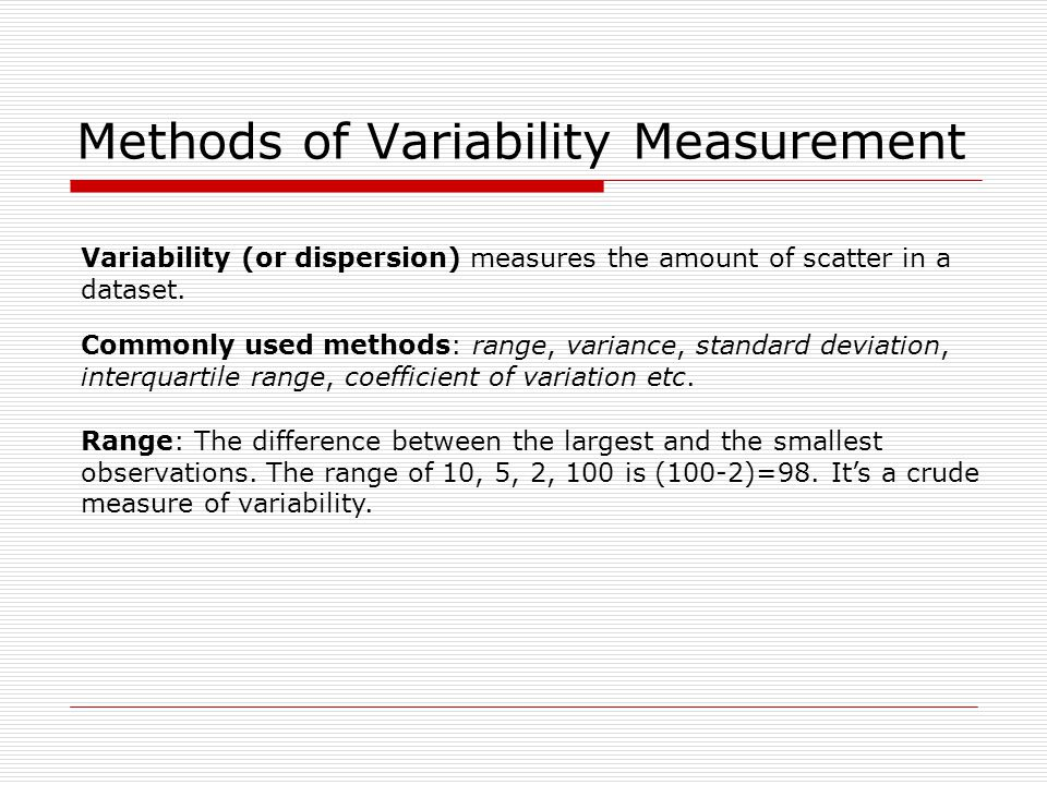 Methods of Variability Measurement