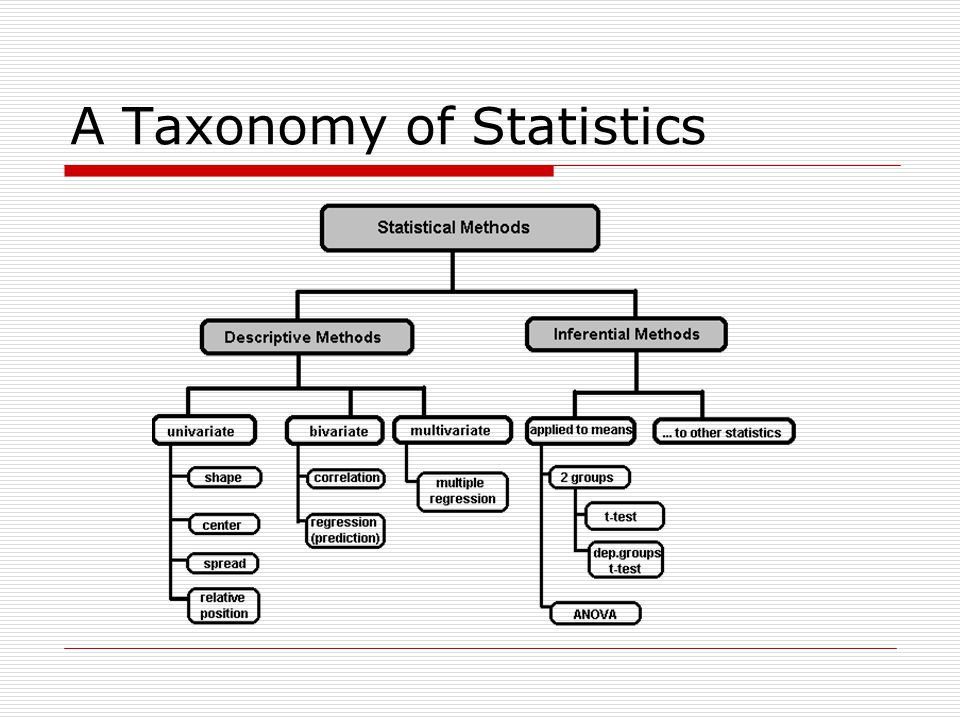 A Taxonomy of Statistics