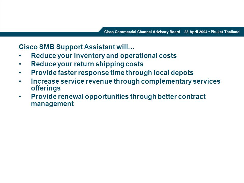 Cisco SMB Support Assistant will…
