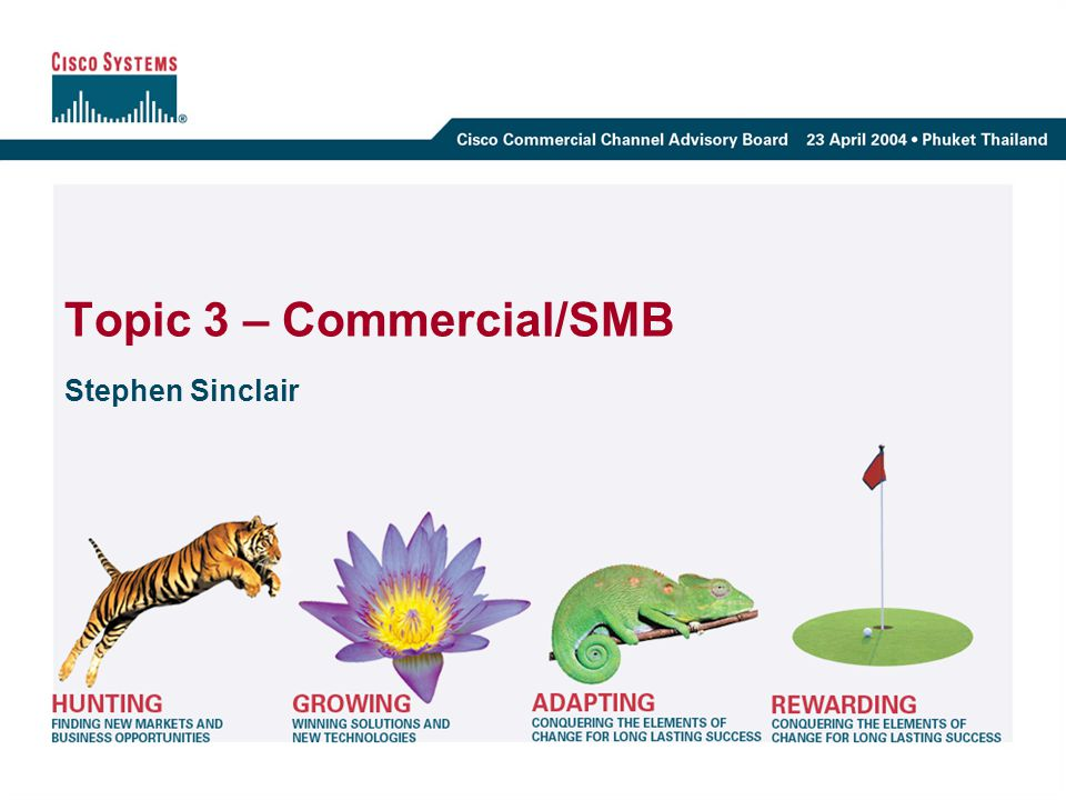 Topic 3 – Commercial/SMB