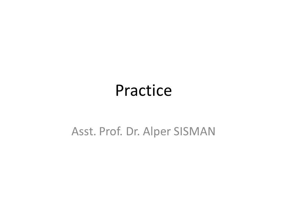 Asst. Prof. Dr. Alper SISMAN