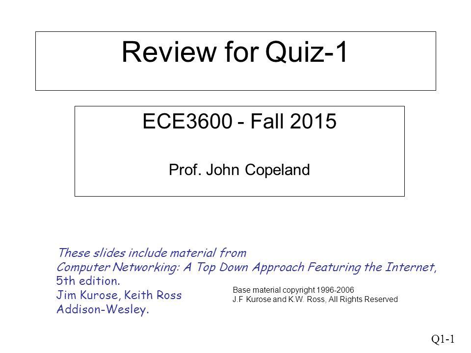 ECE3600 - Fall 2015 Prof. John Copeland
