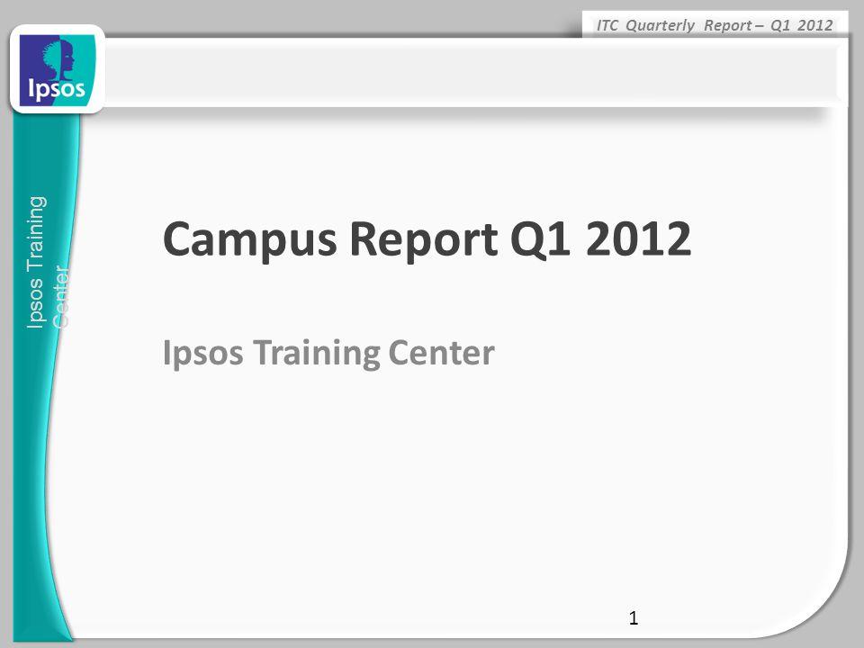 Campus Report Q1 2012 Ipsos Training Center