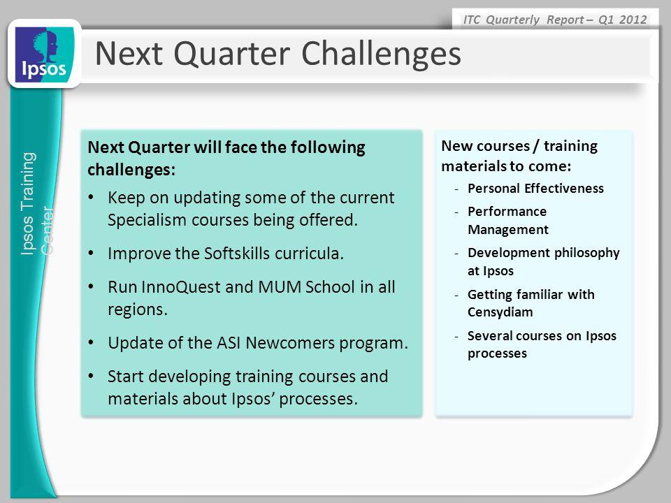 Next Quarter Challenges