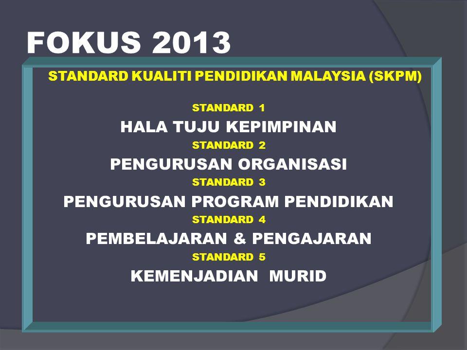 FOKUS 2013 HALA TUJU KEPIMPINAN PENGURUSAN ORGANISASI