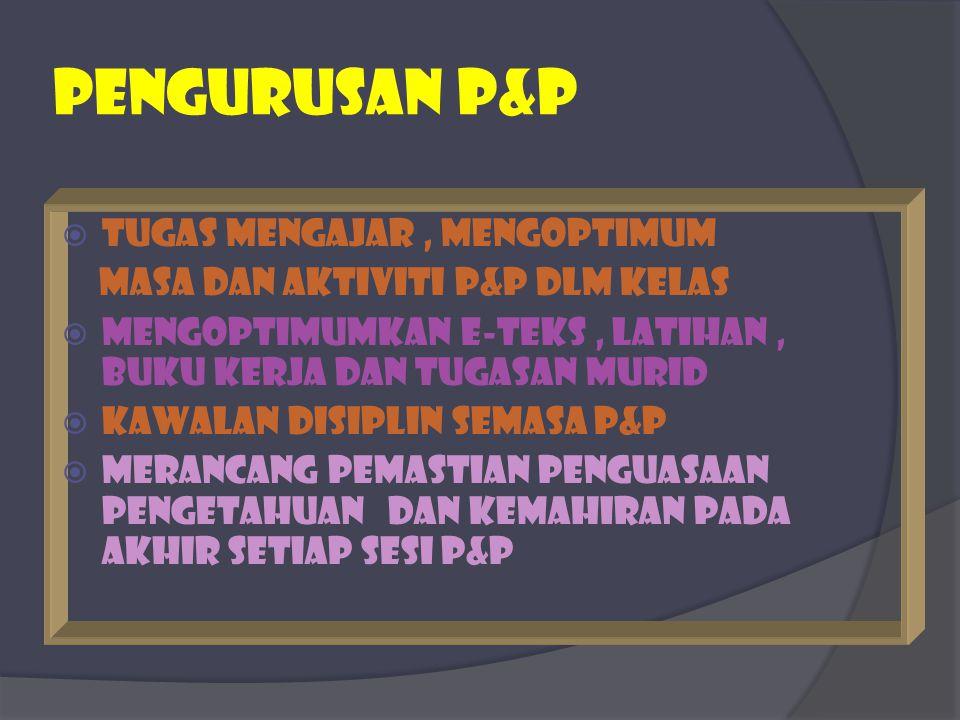 PEngurusan p&p TUGAS MENGAJAR , mENgoptimum