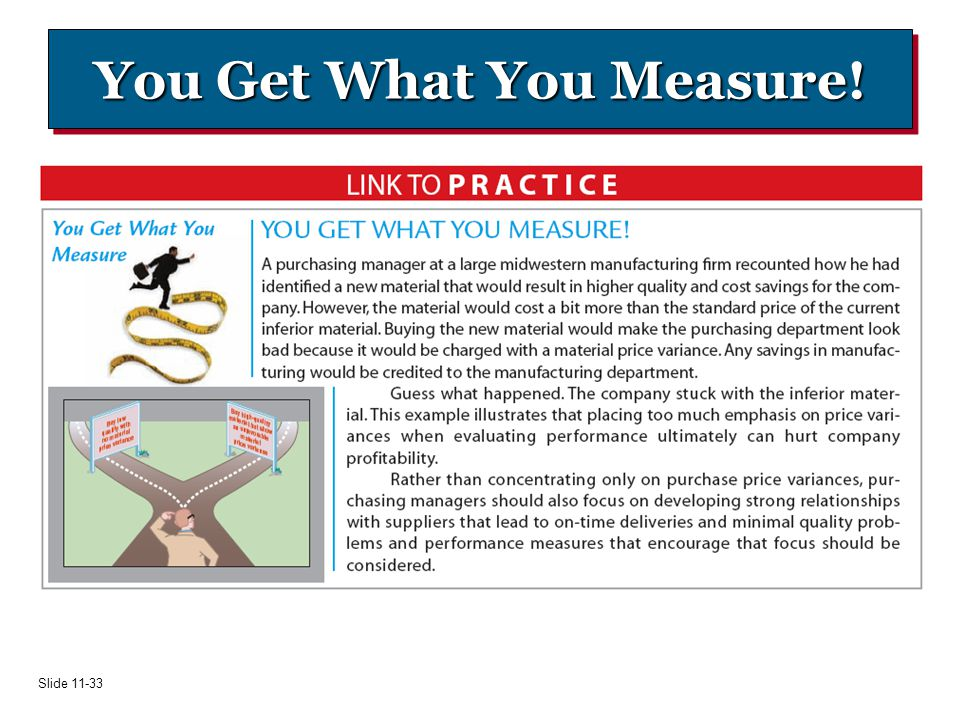 You Get What You Measure!