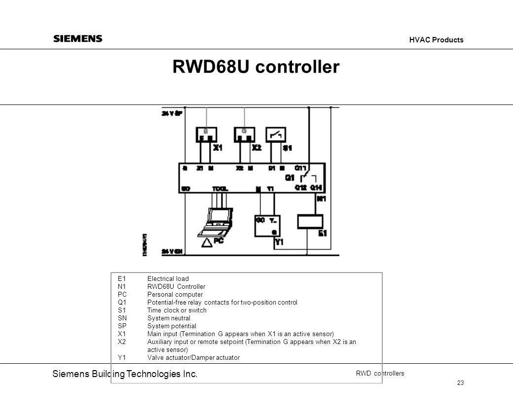 RWD68U controller E1 Electrical load N1 RWD68U Controller