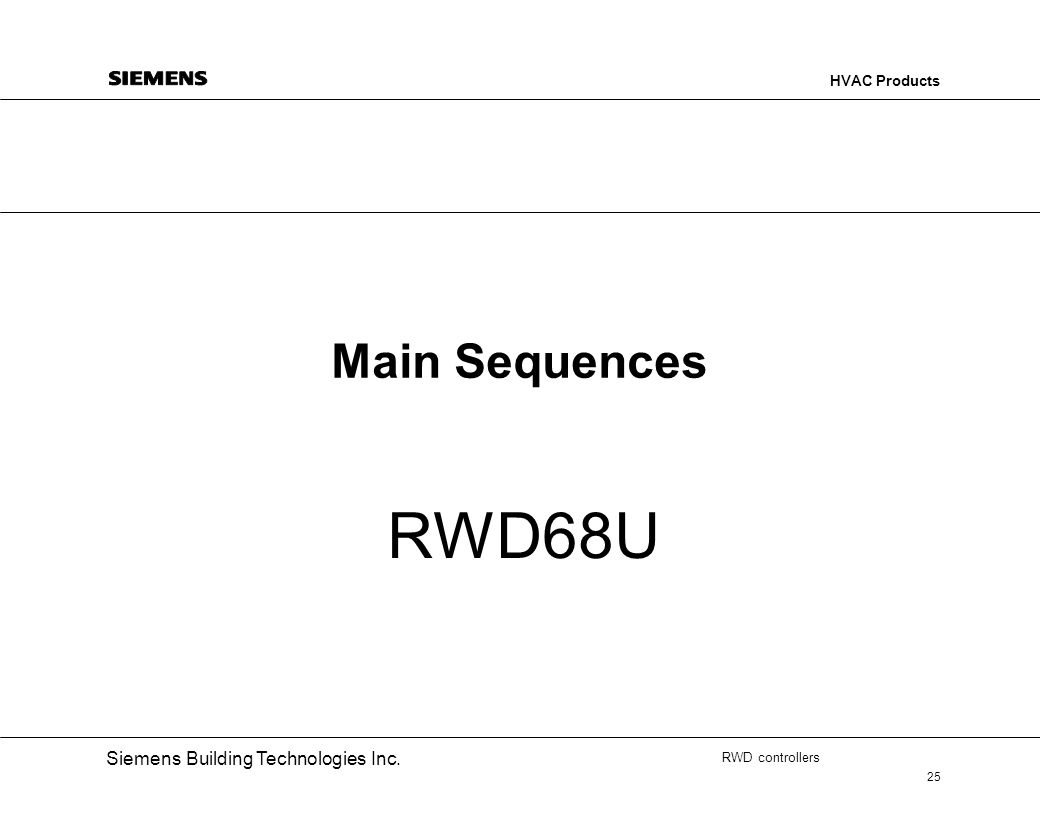 Main Sequences RWD68U