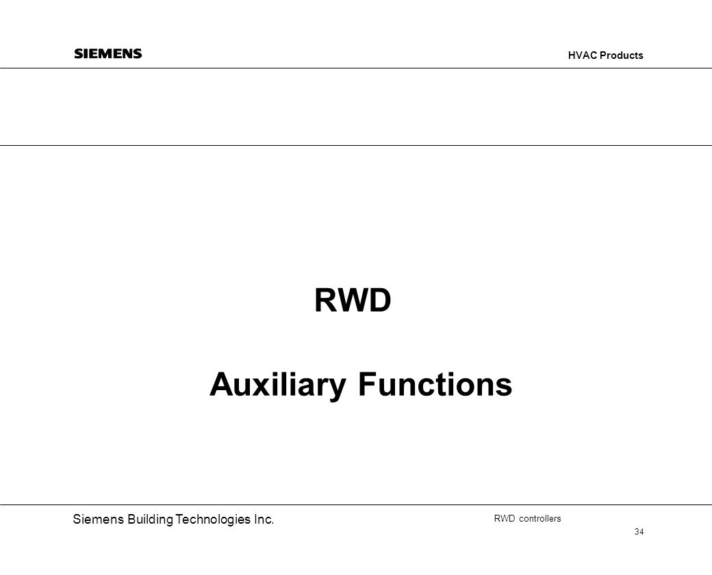 RWD Auxiliary Functions