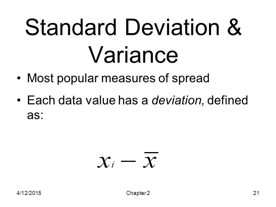 Standard Deviation & Variance