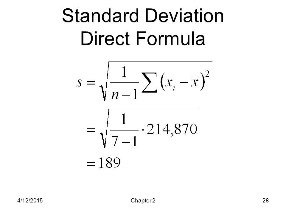 Standard Deviation Direct Formula
