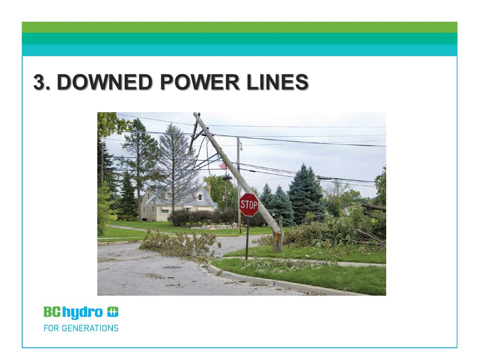 3. DOWNED POWER LINES