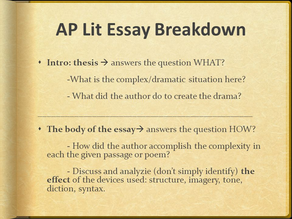 ap english exams essays