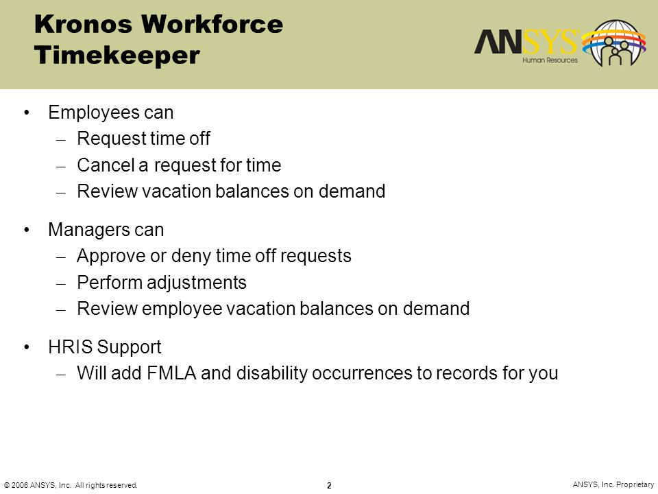 Kronos Workforce Timekeeper