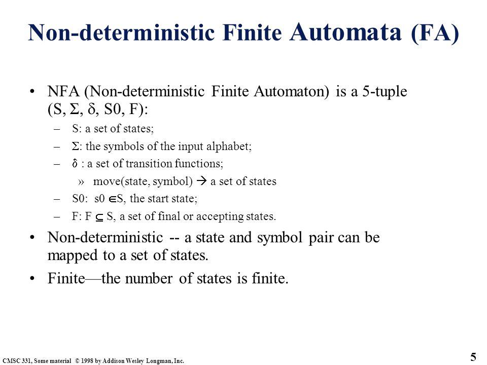 Non-deterministic Finite Automata (FA)