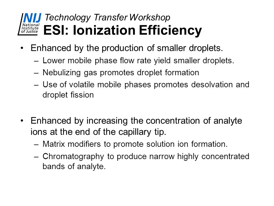 ESI: Ionization Efficiency