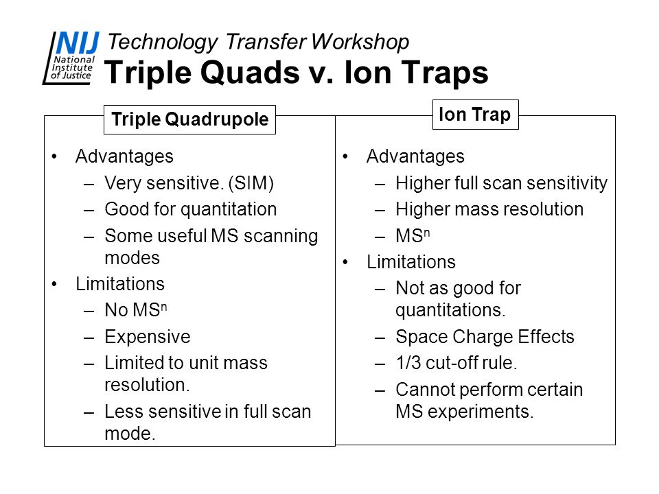 Triple Quads v. Ion Traps
