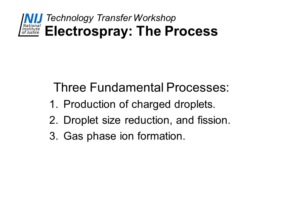 Electrospray: The Process