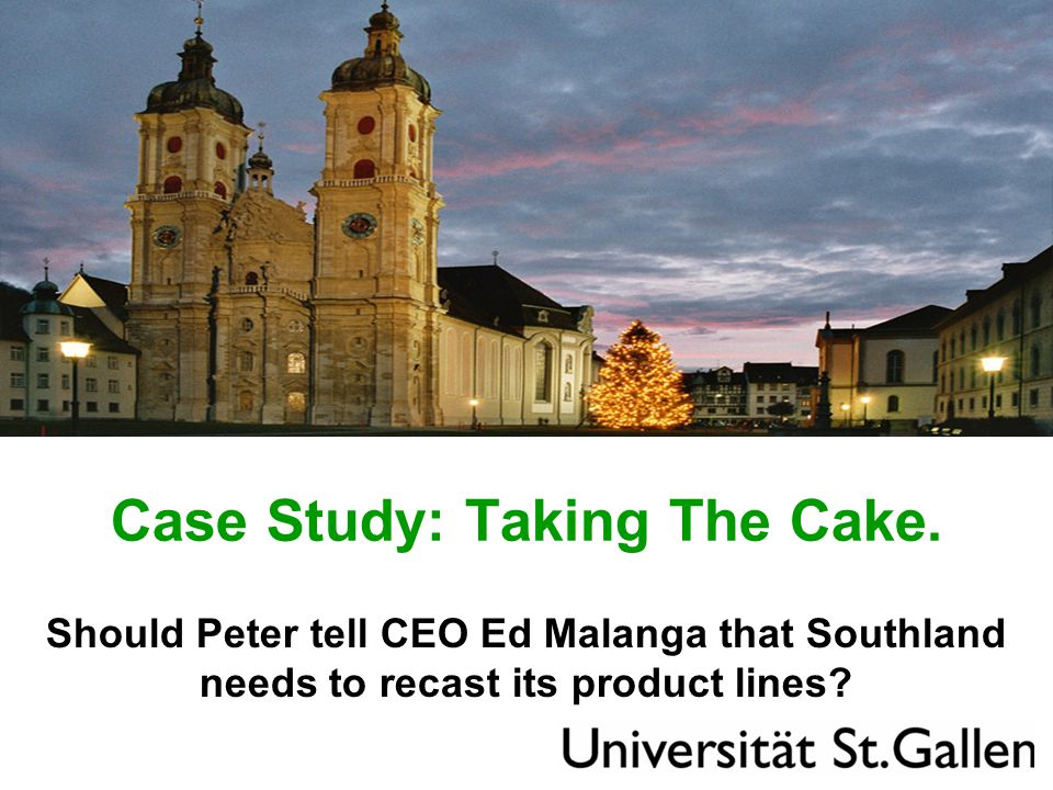 Case Study: Taking The Cake.
