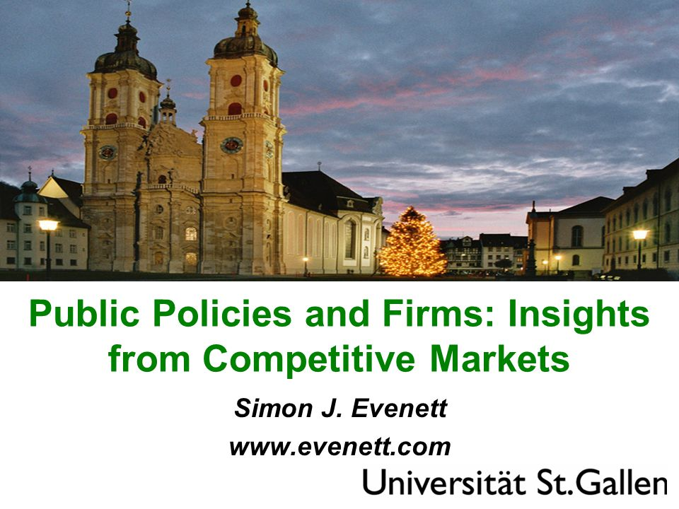 Public Policies and Firms: Insights from Competitive Markets