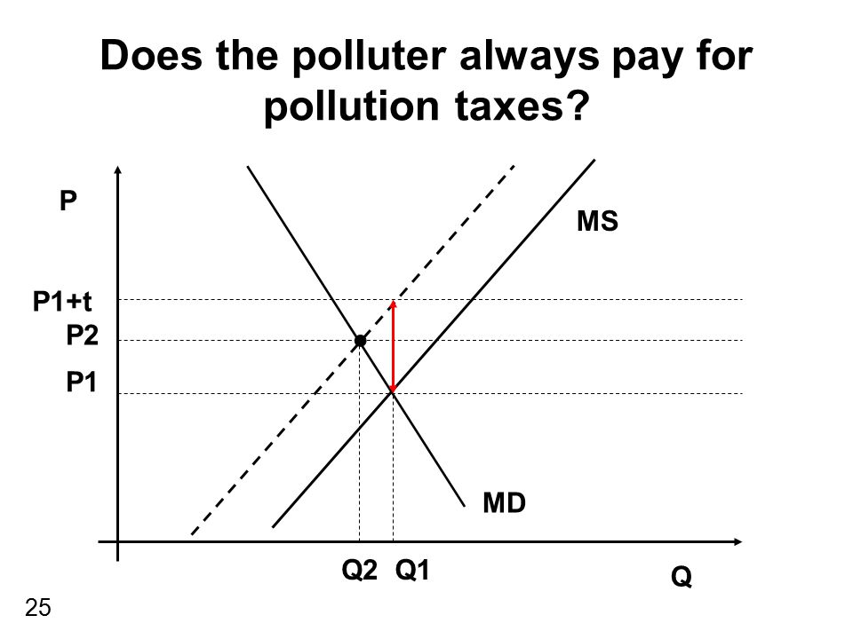 Does the polluter always pay for pollution taxes