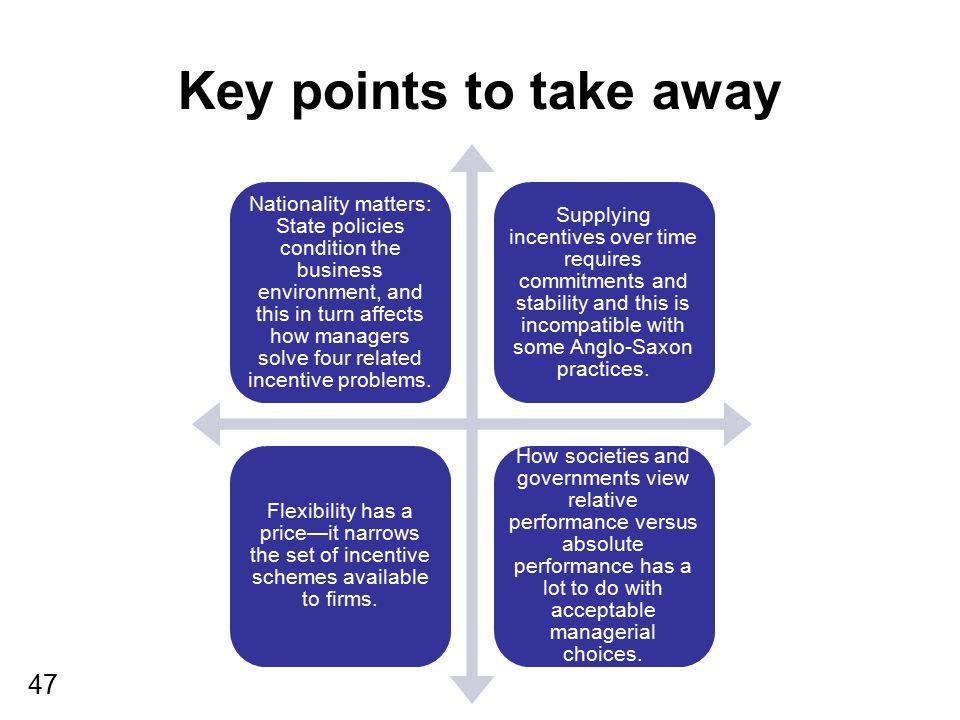 Key points to take away