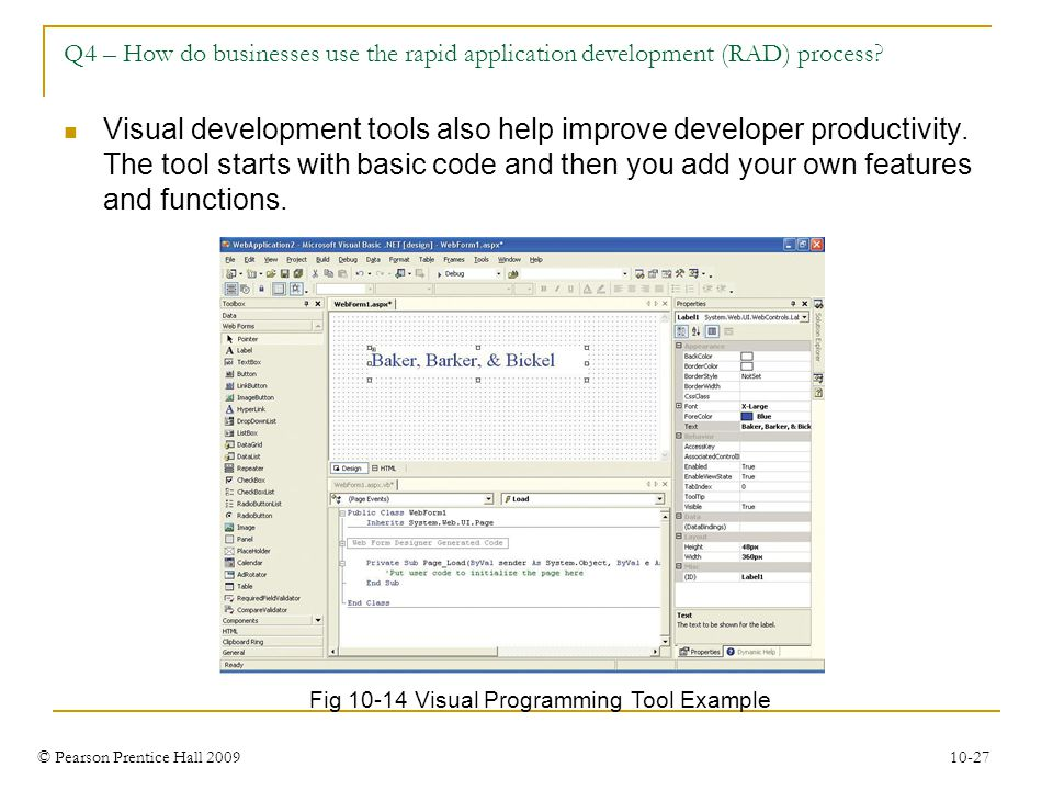 Q4 – How do businesses use the rapid application development (RAD) process