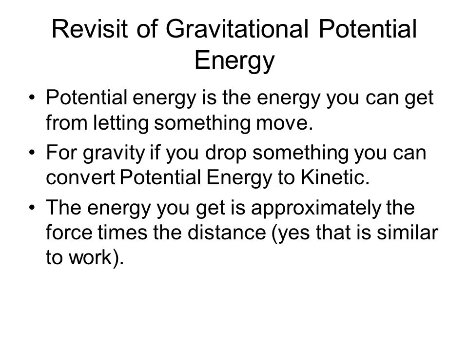 Revisit of Gravitational Potential Energy